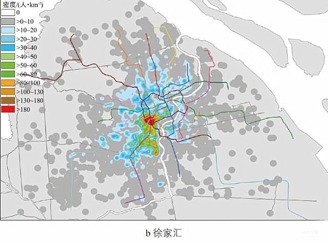 特定区域工作人口居住地分布-上海交通大数据的分析