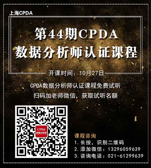 CPDA数据分析师海报