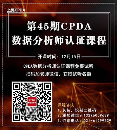 45期CPDA课程